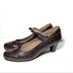 A2 by Aerosoles  Brown Vegan Leather Loafers Sz7.5